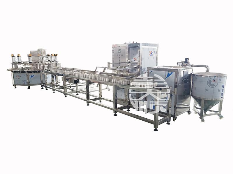 豆腐生產線做豆腐,標準化生產真給力